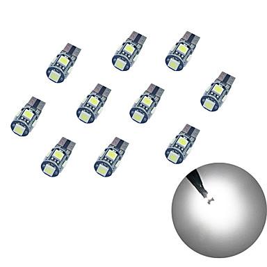 10pcs T10 سيارة لمبات الضوء 1.8W SMD 5050 58lm ضوء إشارة اللف For عالمي