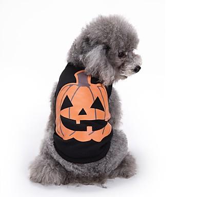 Katzen Hunde T-shirt Weste Hundekleidung Sommer Kürbis Niedlich Modisch Lässig/Alltäglich Halloween