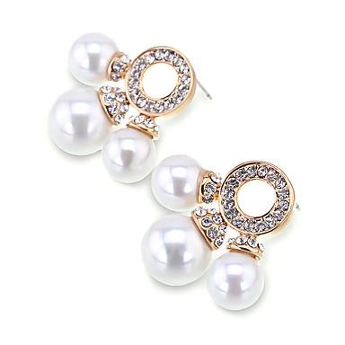 Kadın's Vidali Küpeler Kristal Çok güzel Kişiselleştirilmiş Euramerican alaşım Mücevher Uyumluluk Düğün Parti Doğumgünü