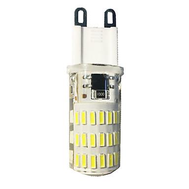 G9 أضواء LED ذرة T 46 المصابيح مصلحة الارصاد الجوية 4014 أبيض دافئ أبيض كول 380-420lm 3000-6500K AC110-220V