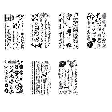 Tatuointitarrat Muut Non Toxic Waterproof Naisten Miesten Teini Flash Tattoo väliaikaiset tatuoinnit