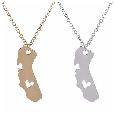 Pentru femei Coliere cu Pandativ Bijuterii La modă Personalizat Euramerican Auriu Argintiu Bijuterii Pentru Nuntă Petrecere 1 buc