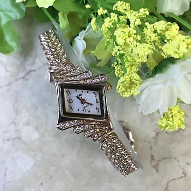 Damen Quartz Simulierter Diamant Uhr Armband-Uhr Chinesisch / Legierung Band Freizeit Rose