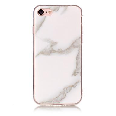 voordelige iPhone 5c hoesjes-hoesje Voor Apple iPhone 7 Plus / iPhone 7 / iPhone 6s Plus IMD Achterkant Marmer Zacht TPU