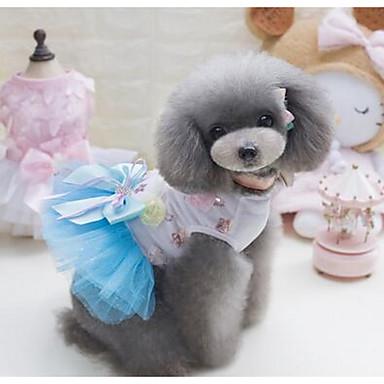 Köpekler Elbiseler Köpek Giyimi Yaz Prenses Sevimli Moda Günlük/Sade Yeşil Mavi Pembe