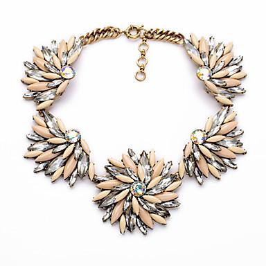 Kadın's Tellerinin Kolye Flower Shape Kişiselleştirilmiş sevimli Stil Pembe Mücevher Için 1pc