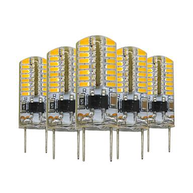 YWXLIGHT® 5pcs 3W 200-300 lm G8 Becuri LED Bi-pin T 64 led-uri SMD 3014 Intensitate Luminoasă Reglabilă Decorativ Alb Cald AC 110V
