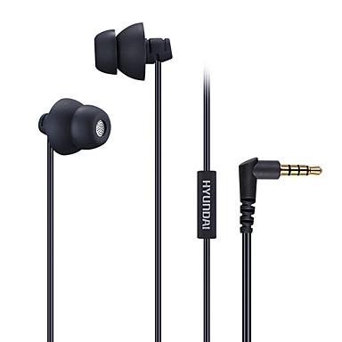 هيونداي هي-202mv سماعة للهاتف المحمول 3.5 ملليمتر في الأذن السلكية مع ميكروفون التحكم في مستوى الصوت