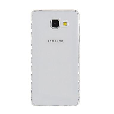 Pouzdro Uyumluluk Samsung Galaxy A5(2017) A3(2017) Şoka Dayanıklı Şeffaf Arka Kılıf Tek Renk Yumuşak TPU için A3 (2017) A5 (2017)