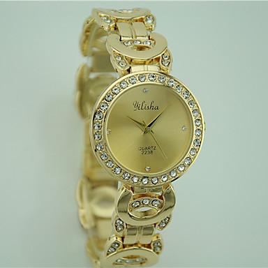 Pentru femei Ceas de Mână Ceas La Modă Quartz Stras Aliaj Bandă Casual Auriu