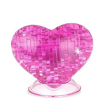 قطع تركيب3D تركيب كريستال الورود قلب لهو بلاستيك كلاسيكي للجنسين هدية