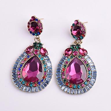 Γυναικεία Κρεμαστά Σκουλαρίκια Κρυστάλλινο Γεωμετρικό Φλοράλ κοστούμι κοστουμιών Κρύσταλλο Κράμα Geometric Shape Κοσμήματα Για Πάρτι