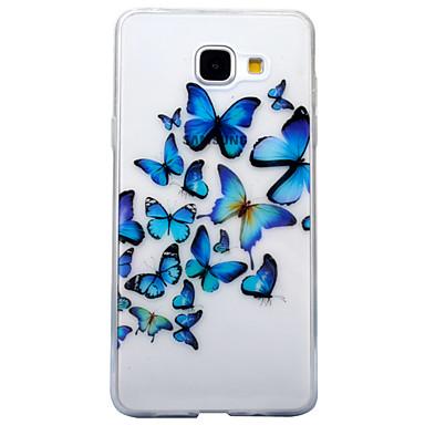 Maska Pentru Samsung Galaxy A5(2017) A3(2017) IMD Transparent Model Capac Spate Fluture Animal Moale TPU pentru A3 (2017) A5 (2017)