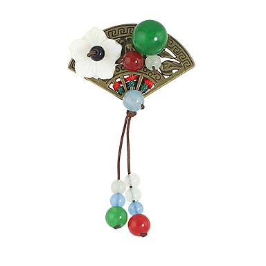 Damskie Broszki Stop Leaf Shape Green Biżuteria Na Casual