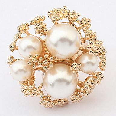 Herrn Damen Ring Bandring Imitierte Perlen Personalisiert Einzigartiges Design Logo Stil Klassisch Retro Böhmische Grundlegend