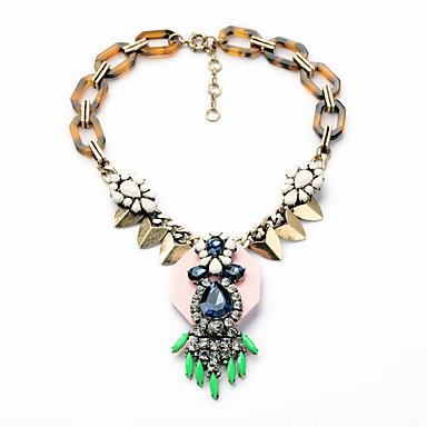 Kadın's Uçlu Kolyeler Geometric Shape Kişiselleştirilmiş sevimli Stil Gökküşağı Mücevher Için 1pc