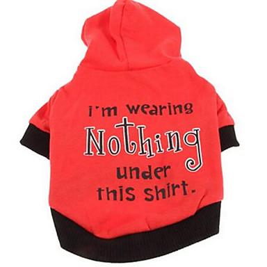Psy Płaszcze T-shirt Ubrania dla psów Lato Jendolity kolor Urocze Sportowy Modny Czerwony