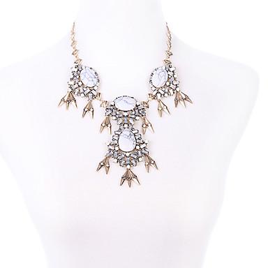 Kadın's Uçlu Kolyeler Kristal Kişiselleştirilmiş sevimli Stil Euramerican Moda Çok güzel Gümüş Mücevher Için Düğün Parti 1pc