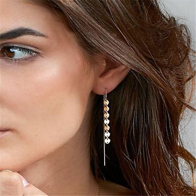 Pentru femei Cercei Dangle - Personalizat, Modă, Euramerican Auriu / Argintiu Pentru Petrecere / Ocazie specială / Zilnic
