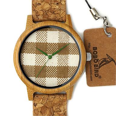 Męskie Na codzień Zegarek Drewno Modny Zegarek na nadgarstek Unikalne Kreatywne Watch Japoński Kwarcowy Kwarc japoński drewniany Skóra