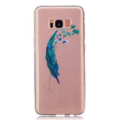 غطاء من أجل Samsung Galaxy S8 Plus S8 IMD شفاف نموذج غطاء خلفي الريش ناعم TPU إلى S8 S8 Plus S5 Mini S4 Mini
