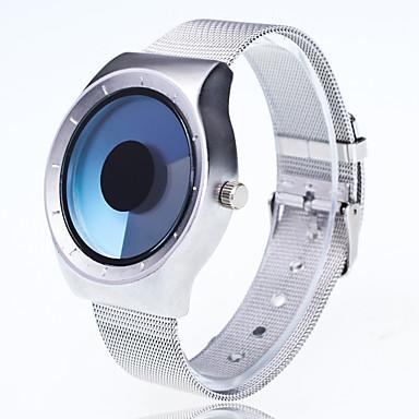 저렴한 남성용 시계-남성용 손목 시계 석영 메탈 실버 창조적 큰 다이얼 아날로그 캐쥬얼 패션 독창적 인 창조적 인 시계 - 라이트 블루 옐로우 퓨샤 1 년 배터리 수명 / Jinli 377