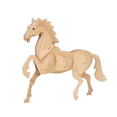 3D-puzzels Hout Model Speeltjes Paard Hout Unisex Stuks