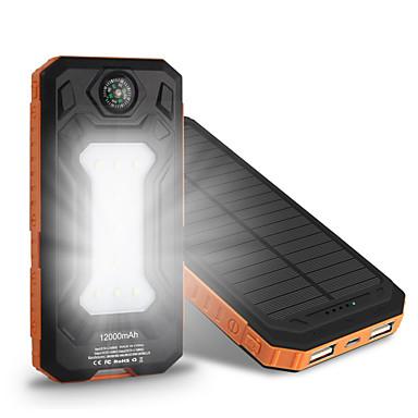 10000mAh güç banka harici pil 5V 1.0A 2.0AA Pil Şarj Cihazı Çok-Çıkışlı Güneş Enerjili Otomatik Ayarlanan Akım Süper İnce