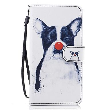 Για Θήκη καρτών Πορτοφόλι με βάση στήριξης Ανοιγόμενη Με σχέδια tok Πλήρης κάλυψη tok Σκύλος Σκληρή Συνθετικό δέρμα για HuaweiHuawei P9
