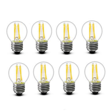 3.5 E14 E27 LED Glühlampen G45 4 COB 300 lm Warmes Weiß Dekorativ AC220 AC230 AC240 V 8 Stücke