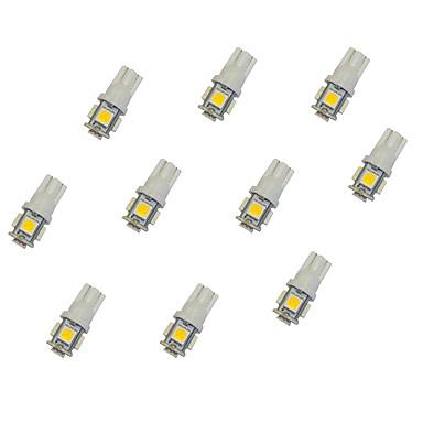 10kpl T10 5 * 5050 SMD LED auton lamppu lämmin valo DC12V