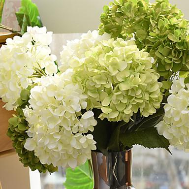 Künstliche Blumen 1 Ast Europäischer Stil Hortensie Tisch-Blumen