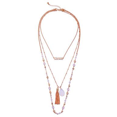 Γυναικεία πολυεπίπεδη Κολιέ Geometric Shape Μοναδικό Φούντες Euramerican Χρυσό Κοσμήματα Για Causal Χριστουγεννιάτικα δώρα 1pc