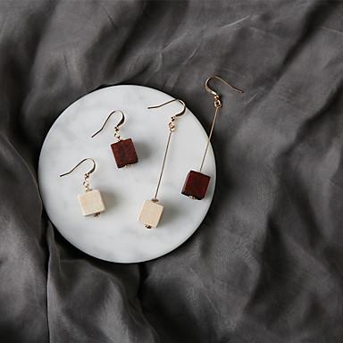 أقراط قطرة موضة euramerican في خشب سبيكة Square Shape مجوهرات إلى حزب يوميا 1 زوج
