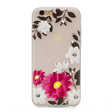 Kılıflar Kapaklar Apple için Arka Kılıf Taşlı Karanlıkta Parlayan Temalı Çiçek Yumuşak TPU iPhone 7 Plus iPhone 7 iPhone 6s Plus iPhone 6