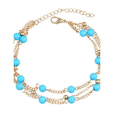 نساء خلخال/سوار فيروز سبيكة عتيقة كرة مجوهرات إلى يوميا فضفاض 1PC