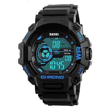 SKMEI Herrn Sportuhr Militäruhr Modeuhr Armbanduhr Digitaluhr Japanisch digital Alarm Kalender Chronograph Wasserdicht LED Nachts