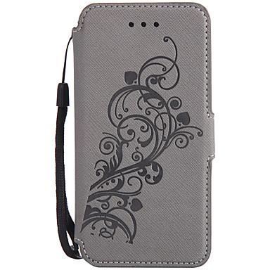 إلى أغط / كفرات محفظة حامل البطاقات مع حامل قلب مطرز كامل الجسم غطاء زهور قاسي جلد اصطناعي إلى Samsung Note 5
