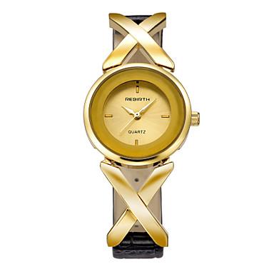 REBIRTH pentru Doamne Ceas La Modă Japoneză Quartz Japonez / PU Bandă Casual Negru Auriu Argintiu Roz auriu Alb/Auriu