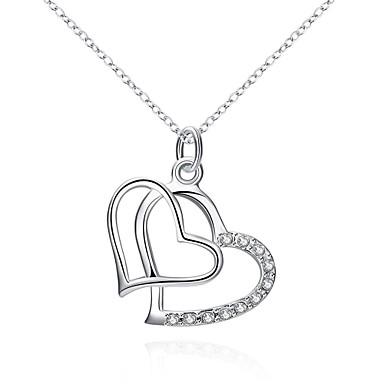 Kadın's Geometric Shape Kalp Kişiselleştirilmiş Wzór geometryczny Eşsiz Tasarım Sallantılı Stil Kolye Klasik Vintage Yapay elmas Bohem