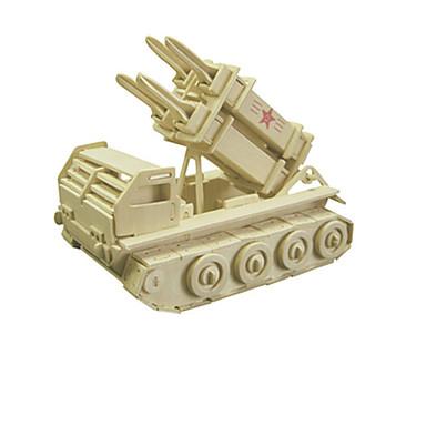 3D-puzzels Hout Model Speeltjes Tank Hout Unisex Stuks