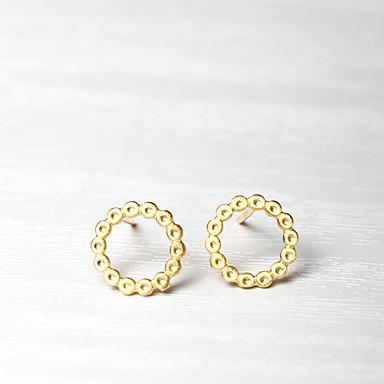 Kadın's Vidali Küpeler Mücevher Dairesel Tasarım Moda Kişiselleştirilmiş Euramerican Som Gümüş Mücevher Uyumluluk Düğün Parti Doğumgünü