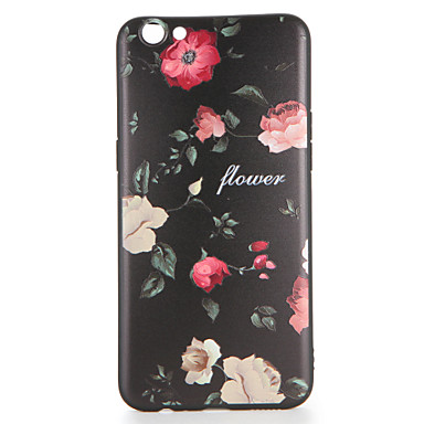Voor oppo r9s r9s plus case cover patroon achterkant hoesje bloem zachte tpu r9 r9 plus