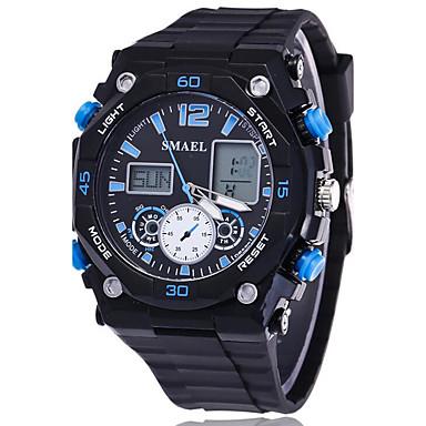 Heren Polshorloge Smart horloge Militair horloge Modieus horloge Sporthorloge Digitaal Kalender LED s Nachts oplichtend Stopwatch Fitness