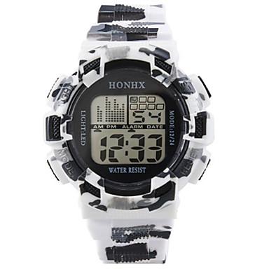 رجال ساعة رياضية ساعة رقمية صيني رقمي سيليكون فرقة أسود
