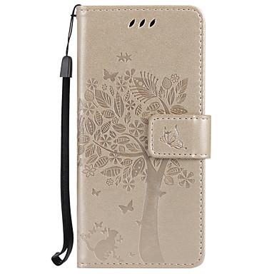 Недорогие Чехлы и кейсы для Galaxy S3-Кейс для Назначение SSamsung Galaxy S8 Plus / S8 / S7 edge Кошелек / Бумажник для карт / со стендом Чехол дерево Твердый Кожа PU