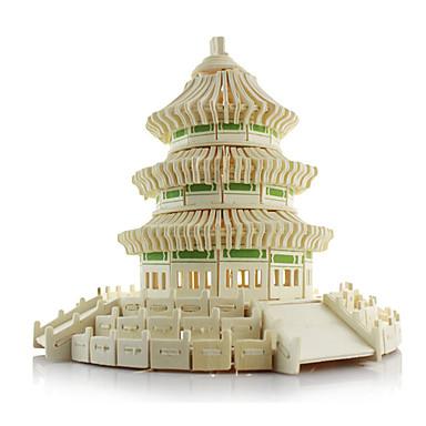 3D-puzzels Legpuzzel Hout Model Modelbouwsets Beroemd gebouw Chinese architectuur Architectuur tempel van de Hemel Simulatie Hout