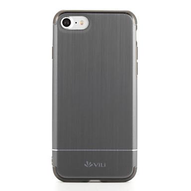 Pouzdro Uyumluluk iPhone 7 iPhone 7 Plus Apple Toz Geçirmez Arka Kapak Tek Renk Sert PC için iPhone 7 Plus iPhone 7