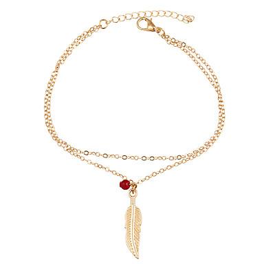 Dames Enkelring /Armbanden Legering Bohemia Style Bladvorm Sieraden Voor Dagelijks Causaal 1 stuks