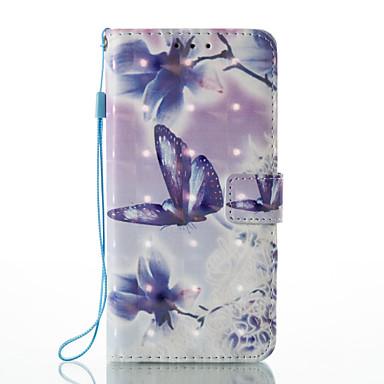إلى محفظة حامل البطاقات مع حامل قلب نموذج مغناطيس غطاء كامل الجسم غطاء فراشة قاسي جلد اصطناعي إلى HuaweiHuawei P9 Lite Huawei P8 Lite